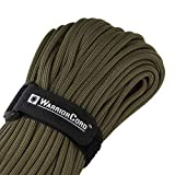 TITAN WarriorCord | OLIVE-DRAB | 103 CONTINUOUS FEET | Exceeds Authentic MIL-C-5040, Type III 550 Paracord Standards. 7 Strand, 5/32' (4mm) Diameter, Military Parachute Cord.