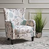 Christopher Knight Home 300040 Arabella Arm Chair, White/Blue Floral