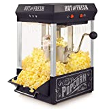 Nostalgia KPM200BK 2.5-Ounce Tabletop Kettle Popcorn Maker Makes 10 Cups, With Kernel & Oil Measuring Spoon and Scoop, Perfect for Birthday Parties, Movie Nights - Black