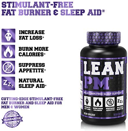 Lean PM Melatonin Free Fat Burner & Sleep Aid - Night Time Sleep Support, Weight Loss Supplement & Appetite Suppressant for Men and Women - 60 Caffeine Free, Keto Friendly Diet Pills 8