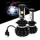 Green-L Led Headlight Bulbs H7 All-in-one Headlights Convernsion Kit Cree Chip 9600LM 6000K Cool White Anti-flicker Perfect Beam Plug & Play - 2 Yr Warranty (Pack of 2)
