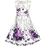 KP12 Girls Dress Purple Butterfly Flower Party Size 6