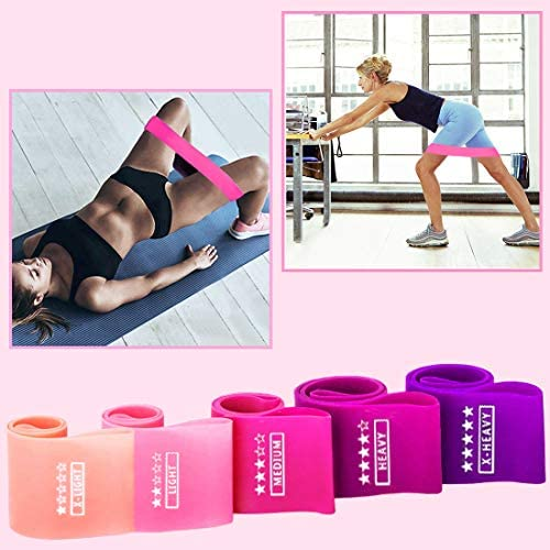 Sinrida Resistance Loop Exercise Bands, Fitness Loop Bands for Legs and Butt, Stretching, Strength Training, Physical Therapy,Pilates Yoga,Crossfit, Natural Latex Elastic Workout Bands 7