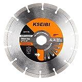 KSEIBI 641170 General Purpose 7 inch Dry Wet Cutting Segmented Diamond Saw Blade with 7/8 inch Arbor for Concrete Stone Brick Masonry