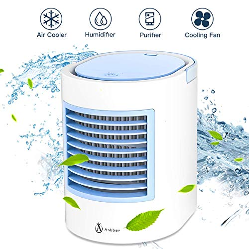 Portable Air Conditioner, Portable air Cooler, Quick & Easy Way to Cool Personal Space, As Seen On TV, Suitable for Bedside, Office and Study Room. Three Wind Level Adjustment