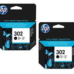 HP 302 Black Original Standard Capacity Ink Cartridges – 2 Pack