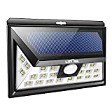 Litom SOLAR LIGHTS OUTDOOR 24 LEDs, Super Bright Motion Sensor Lights with Wide Angle Illumination, Wireless Waterproof Security Lights for Wall, Driveway, Patio, Yard, Garden