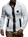 Product review for Leif Nelson Men's Zip Up Knitted Cardigan LN5175
