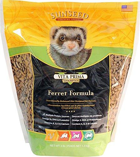 Sunseed Sunscription Vita Prima Ferret Formula, 3-Pound Bag 1