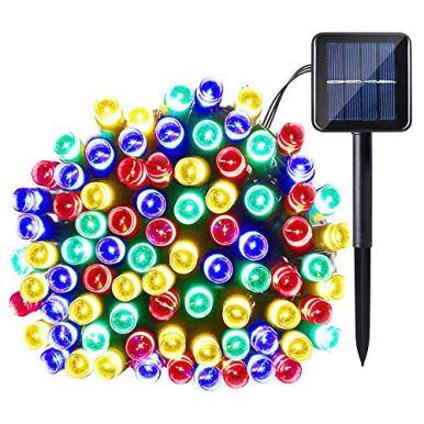 Joomer-Solar-Christmas-Lights-39ft-100-LED-8-Modes-Solar-String-Lights-Waterproof-Solar-Fairy-Lights-for-Garden-Patio-Fence-Balcony-Outdoors-Multi-Color