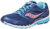 Saucony Women's Guide 8 Road Running Shoe, Blue/Navy/Coral, 6 M US