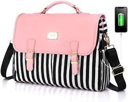 LOVEVOOK Laptop Bag for Women Large Computer Bags Cute Messenger Bag Briefcase Business Work Bags Purse, 15.6inch, Pink-Pro