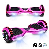 cho 6.5' inch Chrome Hoverboard Electric Smart Self Balancing Scooter with Built-in Wireless Speaker LED...