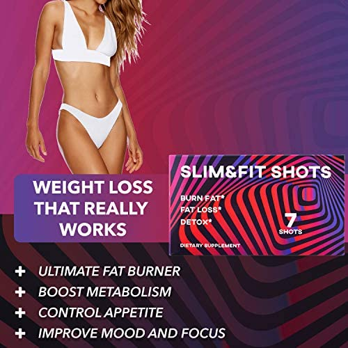 Slim&Fit Shots - The Only Working Weight Loss Pills for Women - Appetite Suppressant, Fat Burner and Metabolism Booster with L-Arginine, Garcinia Cambogia and Guarana - 1 Week Supply 6