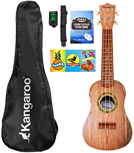"21"" Ukulele with Electronic Tuner, Strap, Picks, Carrying Case & Songbook"