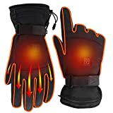 Rabbitroom Unisex Electric Heated Gloves Kit Winter Rechargeable Battery Heating Gloves Waterproof Warm Thermal Gloves for Outdoor Hiking Camping Skiing Arthritis Hand Warmer