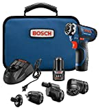 Bosch Power Tools Combo Kit - GSR12V-140FCB22 - 12V Flexiclick 5-In-1 Drill Set  – One Tool Multiple Jobs - Power Drill Cordless Impact Driver - Perfect For Overhead Drilling, Contractors, DIY Project