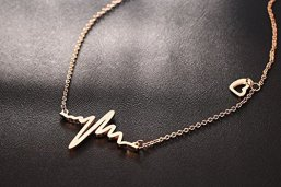 Asma-Jewel-House-Womens-Stainless-Steel-and-Rose-Gold-Plated-Ecg-Medical-Stethoscope-Heartbeat-and-Love-Heart-Necklace-Rose-Gold