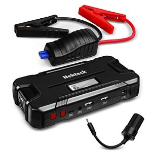 Nekteck Car Jump Starter Portable Power Bank External Battery Charger 500A Peak with 12000mAh – Emergency Jump Pack Auto Jumper for Sedan Van SUV Boat Smartphone USB Device and More