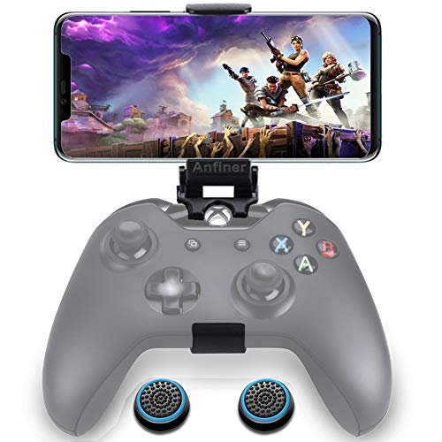 Anfiner Foldable Controller Mobile Phone Holder/Cellphone Clamp/Clip Compatible with Microsoft Xbox One/Xbox One S/Xbox One X/Steelseries Nimbus/SteelSeries Stratus XL/Steam Controllers