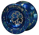 Yoyo King Dr. Smalls 3/4 Sized Metal Yoyo Narrow Responsive Wide Nonresponsive C Bearing Extra Yoyo String (Color)