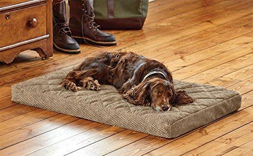 Orvis Memory Foam Platform Dog Bed/Large Dogs 60-90 Lbs, Brown Tweed,