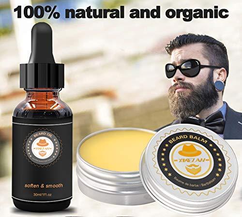 Upgraded Beard Grooming Kit w/Beard Conditioner,Beard Oil,Beard Balm,Beard Brush,Beard Shampoo/Wash,Beard Comb,Beard Scissors,Storage Bag,Beard E-Book,Beard Growth Care Gifts for Men 7