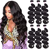 B&P Hair 7A Brazilian Body Wave Weft Human Hair Weave 3 Bundles 100% Unprocessed Natural Black Color Virgin Hair Extensions 12 14 16inches
