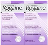 Women's Rogaine Hair Regrowth Treatment Solution, 1 Month Supply, 2 pk