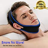 Anti Snoring Chin Strap, Premium Quality Snoring Device, Snoring Aid, Neoprene, Comfortable, Sleep Aid, Snoring Relief, Snore Stopper - Lightweight and Durable Solution for Men, Women, and Kids