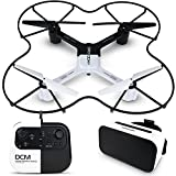 SHARPER IMAGE DRO-004 Lunar Drone with Smartphone Viewing, Virtual Reality Platinum Series, 2.4GHz HD Streaming Video, 720p RC Quadcopter, Autopilot System - White/Black