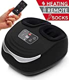 Shiatsu Foot Massager Machine with Heat - Electric Feet Massager Plantar Fasciitis Air Compression Deep Kneading Foot Massages for Neuropathy Muscle Relief Nerve Pain Therapy Spa UP to 12 Size