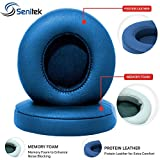 Solo2 Memory Foam Ear Cover Protein Leather Ear Cushion Replacement Parts Earpads for Beats Solo 2 Earpad On-Ear Headphone Ear Cups - Blue