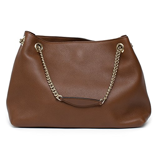 6217906f8408 Gucci Soho Leather Shoulder Bag Dark Brown Cuir Gold Chain Handbag ...
