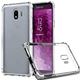 ZeKing Samsung Galaxy J4 2018 Case Anti-Scratch Crystal Clear Flexible TPU Silicone with Four Corner Bumper Protective Case Cover(Transparent)