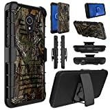 Alcatel TCL LX Case(A502DL), Alcatel 1X Evolve Case, Alcatel Ideal Xtra Case(5059R), Elegant Choise Shockproof Kickstand and Belt Clip Hybrid Holster Heavy Duty Full Body Protective Cover (Camo)