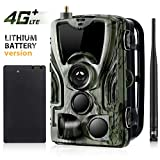 CAMVILD 4G LTE Trail Game Camera, Wildlife Camera(AT&T/Verizon), 16MP 1080P Full HD Hunting Camera, MMS/SMS/SMTP/FTP Wildlife Camera Waterproof Infrared Game Cam, Night Vision, Rechargeable Battery