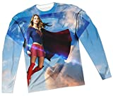 Up In The Sky -- CW Supergirl TV Show All-Over Long-Sleeve T-Shirt