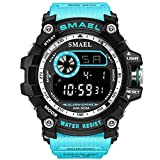 Watch VOEONS Digital Watch, 165FT Waterproof Military Running Sports Watch for Men & Boys, Outdoor Work Wrist Watch - Alarm, Stopwatch, Back Light - Blue