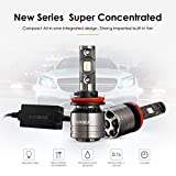 Auxbeam H11 Led Headlight Bulb Led Headlights with 2 Pcs of 70W 8000lm Super Bright LED Chips Conversion Kits F-T1 Series Single Beam with Temperature Control