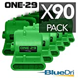 BlueDri ONE-29 Portable Air Mover Carpet Dryer 3 Speed 2.9 AMPS Fully Stackable GFCI 4 Unit Daisy Chain Capability with 25 Feet Cord, Green