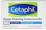 Cetaphil Antibacterial Gentle Cleansing Bar, 4.5 Ounce Bar (Pack of 3)