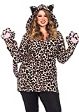 Leg Avenue Women's Plus Size Cozy Leopard, 3X/ 4X
