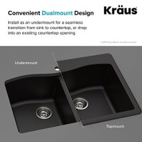 Kraus-Forteza-Granite-Kitchen-Sink-33-Inch-KGD-52GREY