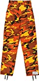 Product review of Army Universe Orange Camo Cargo BDU Pants Hunters Camouflage Tactical Military Fatigues with Pin