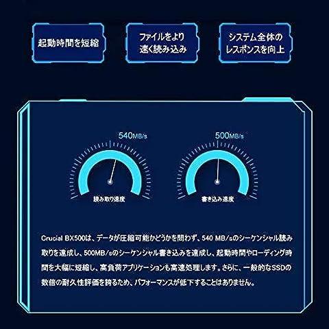 Crucial SSD BX500 シーケンシャル速度