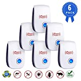 Ultrasonic Vermin Repeller - 2019 Upgrade Electronic Vermin Control Ultrasonic Repellent Indoor Plug and Play for Garden, Bedroom, Kitchen, Living Room Give You a Comfortable Life (6 Packs) (blue)