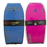 Legendary Pro X Slick Bottom Body Board (Choose Color & Size) (Blue/Pink, 41')