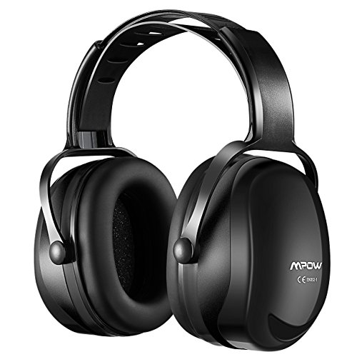 Mpow [Upgraded] Noise Reduction Safety Ear Muffs, SNR 36dB Shooting Hunting Muffs, Hearing Protection with a Carrying Bag, Ear Defenders Fits Adults to Kids with Twist Resistant Headband-Shiny Black