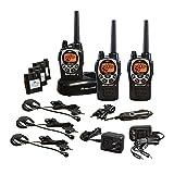 Midland - GXT1000VP4, 50 Channel GMRS Two-Way Radio - Up to 36 Mile Range Walkie Talkie, 142 Privacy Codes, Waterproof, NOAA Weather Scan + Alert (3 Pack) (Black/Silver)